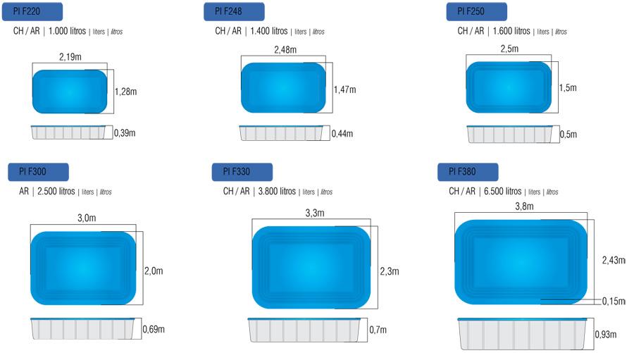 medidas de piscinas adulto e infantil medidas teis