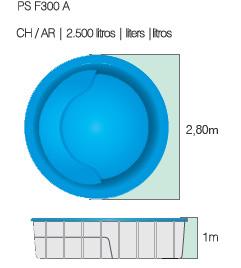 Medidas de piscinas adulto e infantil medidas teis for Calcular metros cubicos piscina redonda